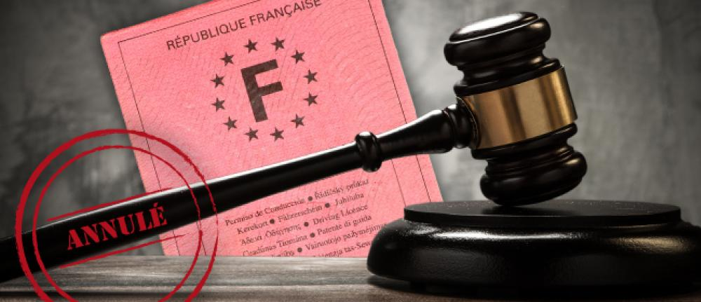 annulation judiciaire permis de conduire + assurance auto